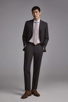 Pedro del Hierro Tailored fit birdseye blazer Grey