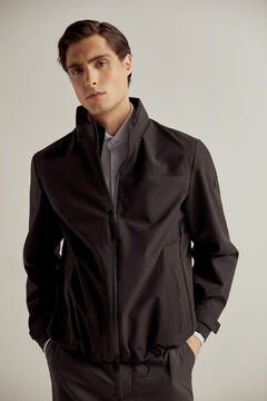 Pedro del Hierro Laser cut technical jacket Black