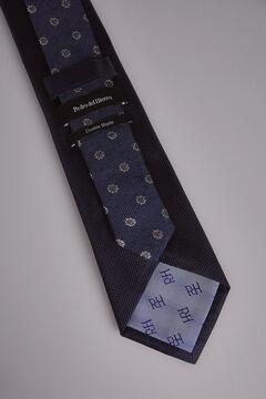Pedro del Hierro Plain textured tie Blue