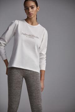 Pedro del Hierro T-shirt logo brilho Branco