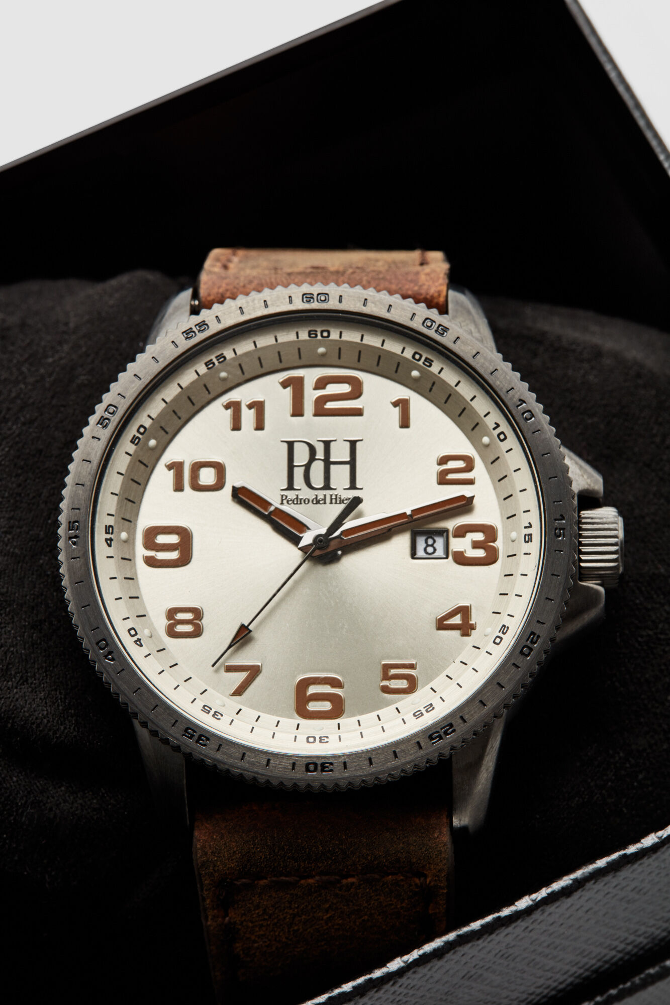 Second Hand Watches >> Leather Strap Watch With Second Hand Watches Pedro Del Hierro Man Woman