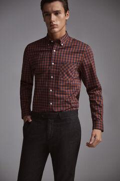 Pedro del Hierro Gingham shirt Blue