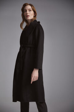 Pedro del Hierro Wrap coat Black