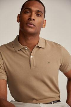 Pedro del Hierro Essential short-sleeved polo shirt Beige
