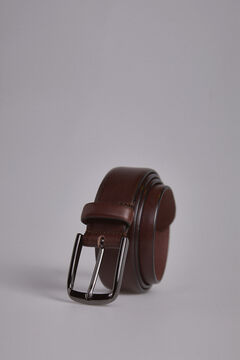 Pedro del Hierro Smooth sport leather belt Brown