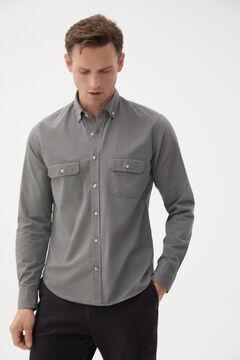 Pedro del Hierro Garment dyed trench coat Grey