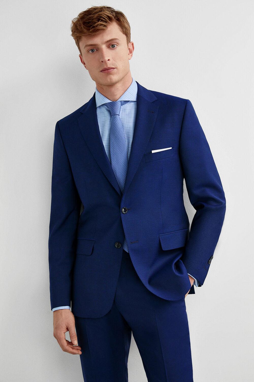 153bf53aef2 Pedro del Hierro Americana traje lana tailored fit Azul