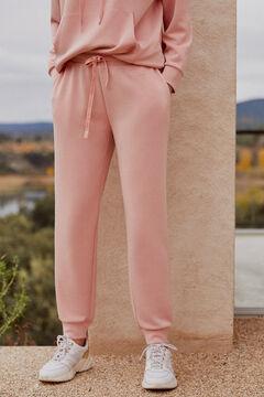 Pedro del Hierro Pantalon jogger tacto suave Pink