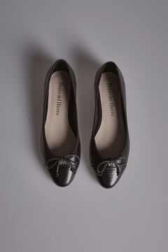 Pedro del Hierro Black Animal Print Ballerina Black