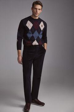 Pedro del Hierro Pantalón chino pana premium flex regular Blue