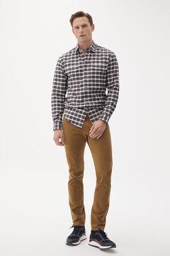 Pedro del Hierro Slim fit coloured Cashmere Touch 5-pocket jeans Beige