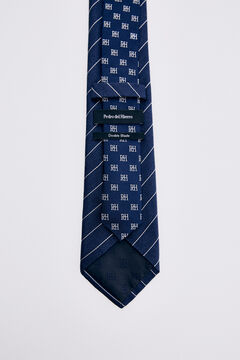 Pedro del Hierro Striped tie Blue