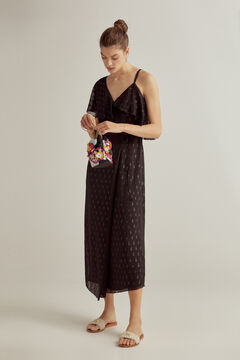 Pedro del Hierro Asymmetric dress with lurex Black