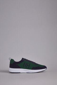 Pedro del Hierro Sneaker piel piso goma Azul