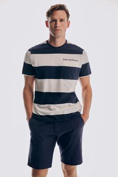 Pedro del Hierro Striped short sleeve t-shirt Blue