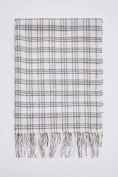 Pedro del Hierro Checked scarf Ecru