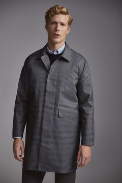 Pedro del Hierro Checked trench coat Grey