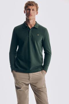 Pedro del Hierro Long-sleeved polo shirt Green