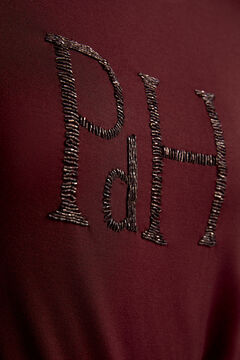 Pedro del Hierro T-shirt with bejewelled logo Red