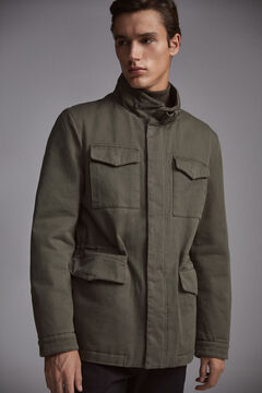 Pedro del Hierro Cotton 4-pocket jacket Green
