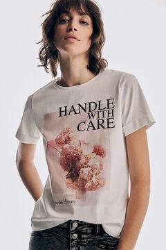 Pedro del Hierro Short sleeve floral T-shirt Pink