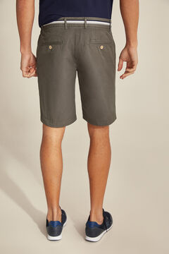 Pedro del Hierro Pima cotton Bermuda shorts Grey