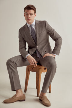 Pedro del Hierro Grey checked tailored fit blazer Grey
