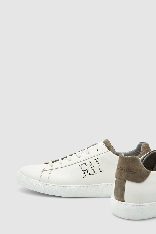 5d9cebe129 Pedro del Hierro Sneaker piel logo Blanco