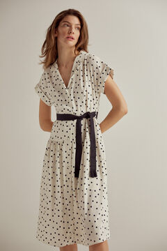 Pedro del Hierro Polka-dot print dress Ivory