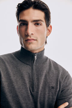 Pedro del Hierro Merino trucker neck jumper Grey