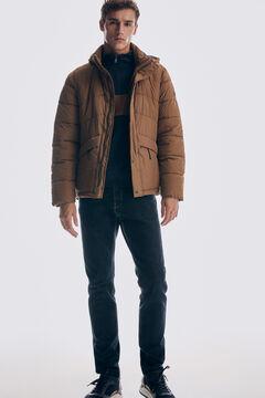 Pedro del Hierro Short down jacket Beige