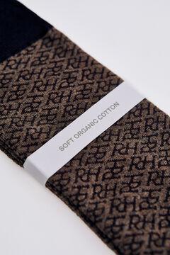 Pedro del Hierro Multi-logo socks Brown