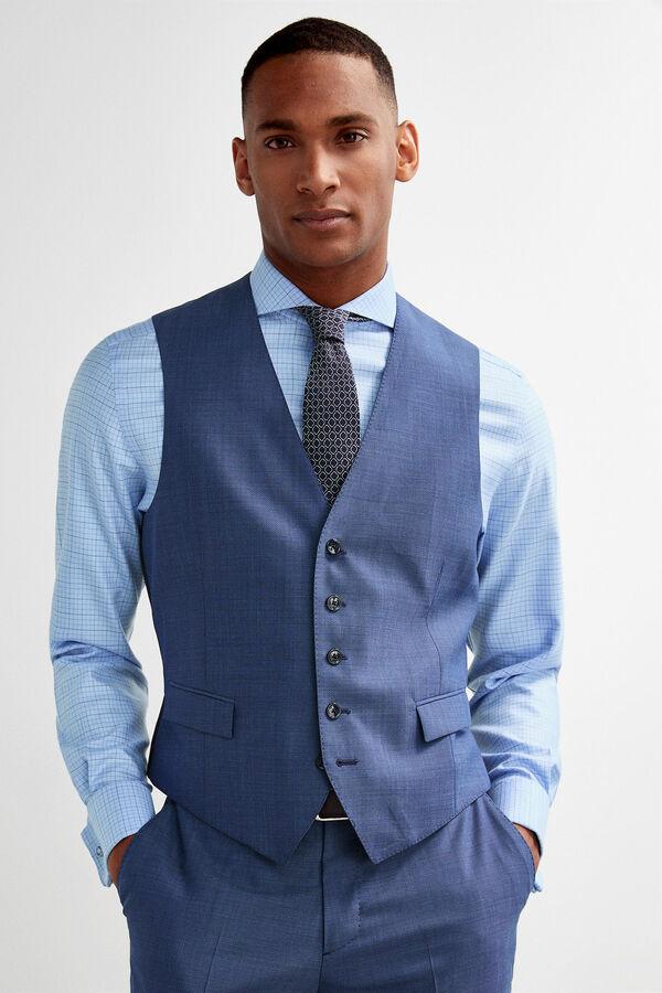 d7dc3ff204b75 Pedro del Hierro Chaleco traje slim fit Azul