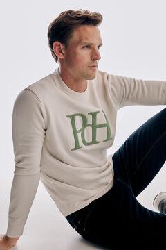 Pedro del Hierro Fantasy logo sweatshirt Ecru