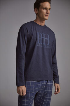 Pedro del Hierro Checked pyjamas Blue