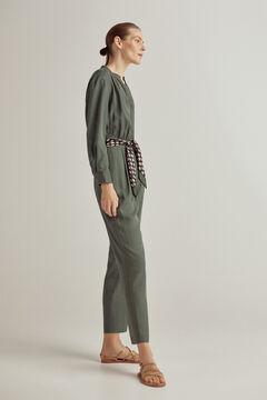 Pedro del Hierro Tie waist jumpsuit Green