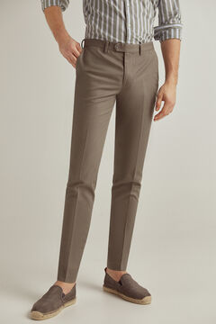 Pedro del Hierro Slim fit easy-iron stain resistant travel trousers Grey