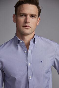 Pedro del Hierro Camisa rayas tech non iron antimanchas Azul