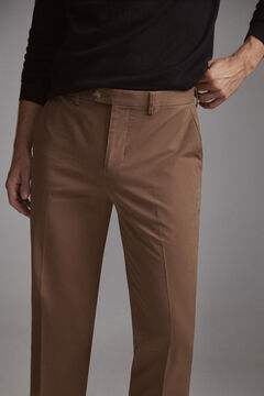 Pedro del Hierro Slim fit premium flex chinos  Brown