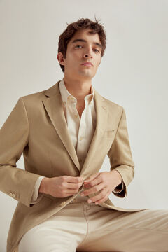 Pedro del Hierro Cotton/linen blazer Beige