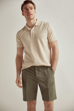 Pedro del Hierro Linen Bermuda shorts with large pockets and elasticated waistband Grey