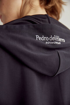 Pedro del Hierro Soft feel hooded sweatshirt Blue