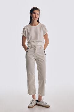 Pedro del Hierro Straight-fit jeans Beige