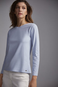 Pedro del Hierro Long-sleeved T-shirt  Blue