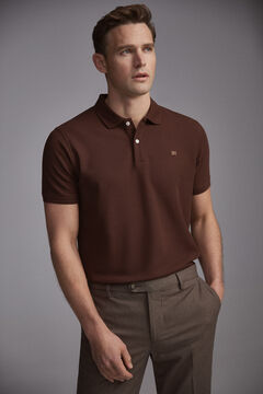 Pedro del Hierro Short-sleeved PdH logo polo shirt Brown