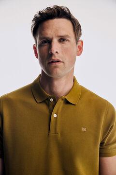 Pedro del Hierro Basic short sleeve polo shirt Yellow