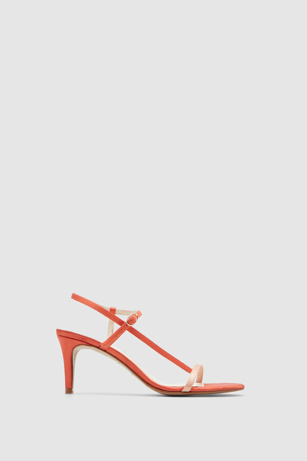 cd0d3b892b355 Pedro del Hierro Satin sandals with medium heel Red