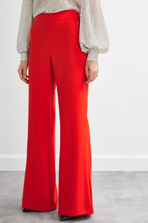 7f6978a1 Pedro del Hierro Wide leg crêpe trousers Red