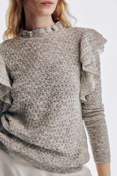 Pedro del Hierro Patterned flounced jumper Grey