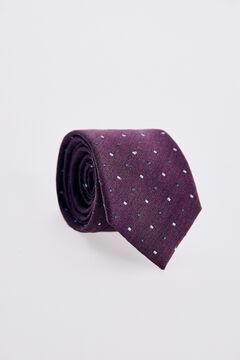Pedro del Hierro Micro geometric tie Pink